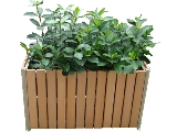 Click here for details - Urban, Style: Flower Planter, Material: Plastic wood & Aluminum frame, Colour: As Photo, Size: 870x470x510mm, Note: EXW (EX WORKS) PRICERating: ••••