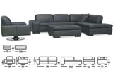 Click here for details - Sofa, Seating: Sectional, Material: Half Italian Leather, Colour: As photo, Pieces: 4, Inclusions: cushions, Note: Price for one set. Many colours available., Note: EXW ( EX WORKS )Rating: •••°