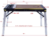 Click here for details - Machinery, Type: Workbench, Size: 1130x470x800mm, Colour: As Photo, Material: Plastic + MDF + Aluminum + Steel, Pieces: 1 pc, Inclusions: 2-in-1 Workbench/Scaffold,With American(CUL), Australian(SAA) or European(GS) socket, Note: Option Functions: USB Model ,Wheels Folding System,the prices listed above not included, Note: EXW ( EX Works) PriceRating: •••••