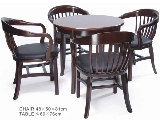 Click here for details - Set, Type: Dining, Seating: 4 Seater, Material: Wood, Colour: As photo, Pieces: 5 pcs, Inclusions: Price for set : 1 Table + 4 Chairs, MOQ: 10 sets, Other: Table: 600x600x760mm, Chair: 480x500x810mm, Note: EXW (EX WORKS) PRICERating: ••••