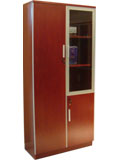 Click here for details - Cabinet, Type: Bookcase, Material: Wood, Colour: Cherry, Width: 904mm, Depth: 400mm, Height: 2000mm, Doors: 2, Note: All on this page are D100 matching family products.EXW (EX WORKS), Note: Wood + glassRating: ••••