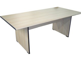 Office table, Type: Meeting, Material: Melamine, Colour: Maple, Seating capacity: 6 seater, Shape: Rectangular, Length: 1800mm, Width: 900mm, Height: 750mm, Note: EXW(EX WORKS)